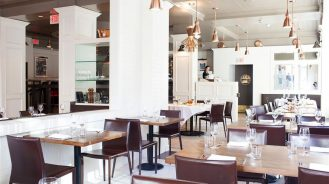 La Pentola Restaurant with tables and chairs