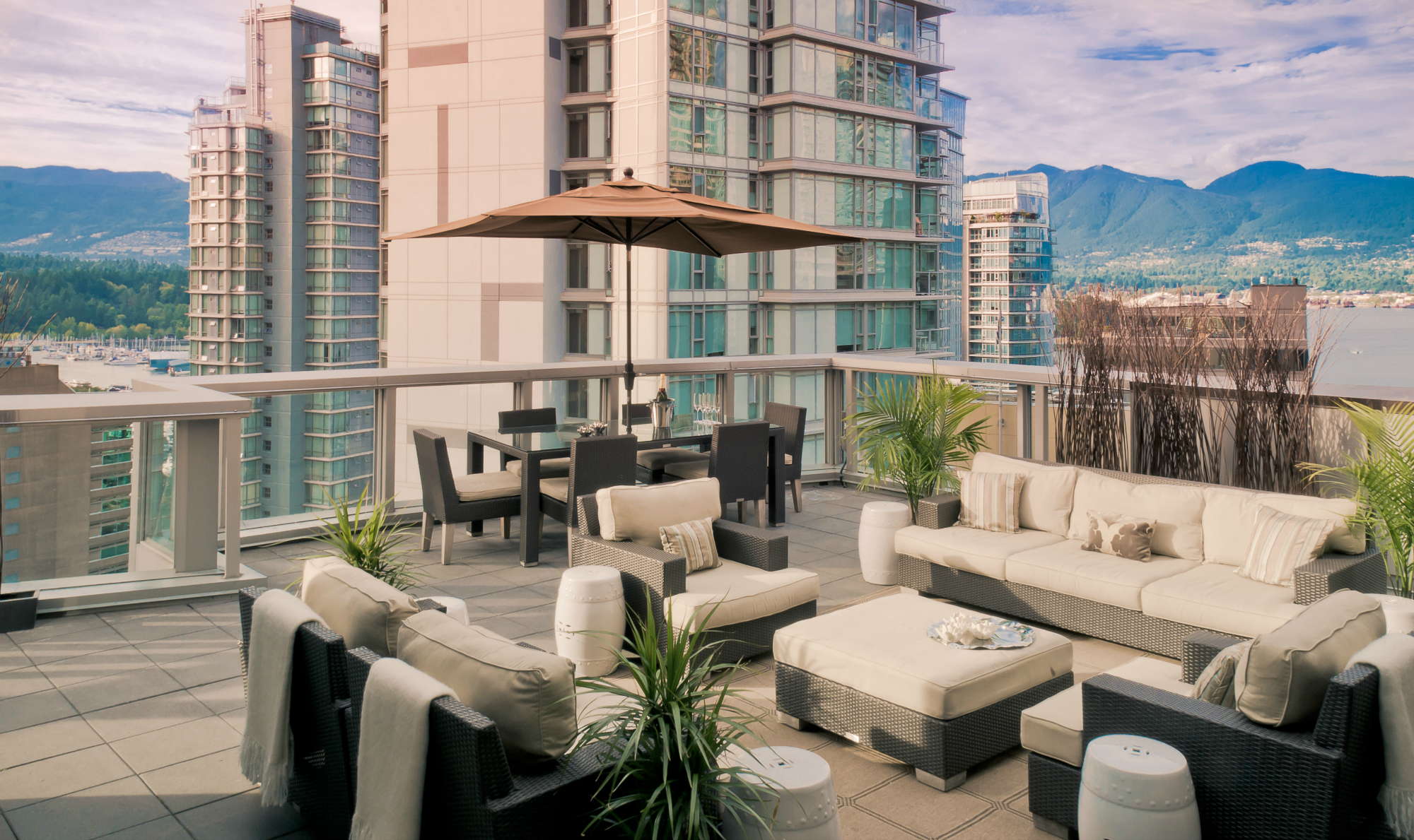 Loden Hotel penthouse patio with view