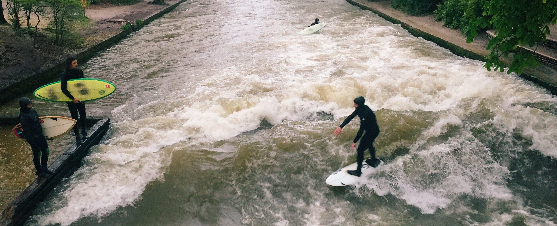 Munich surfing
