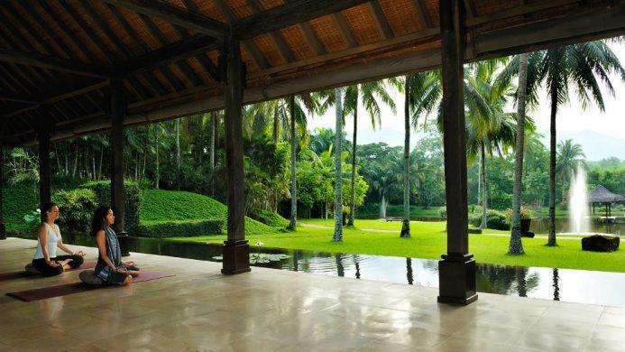 The Farm at San Benito yoga pavilion