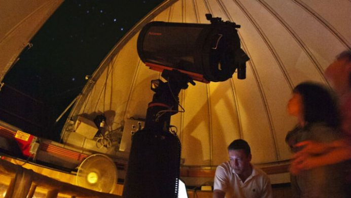 Soneva Kiri telescope at night