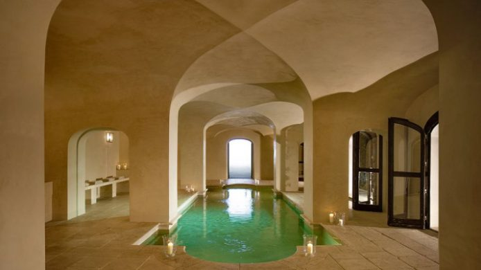 spa pool with architectural detail