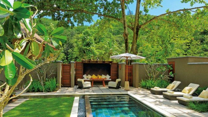 Constance Ephelia indoor-outdoor private plunge pool and tropical garden