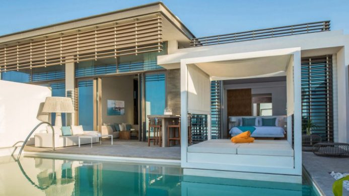 Nikki Beach Villa, Dubai Private Pool and Day Bed