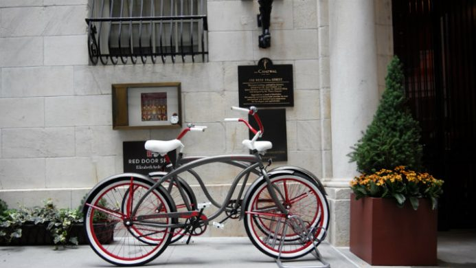 The Chatwal bicycle outside hotel