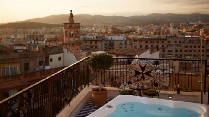 Hotel Cort, Mallorca Rooftop Jacuzzi View