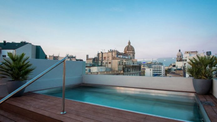 Hotel MidMost, Barcelona Rooftop Pool View