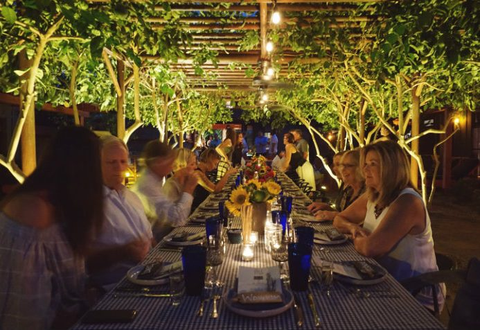 Palm Springs long table dinner