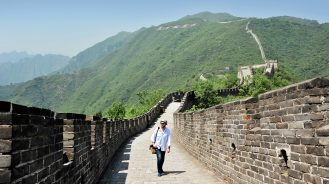 Daniel on the Great Wall of China