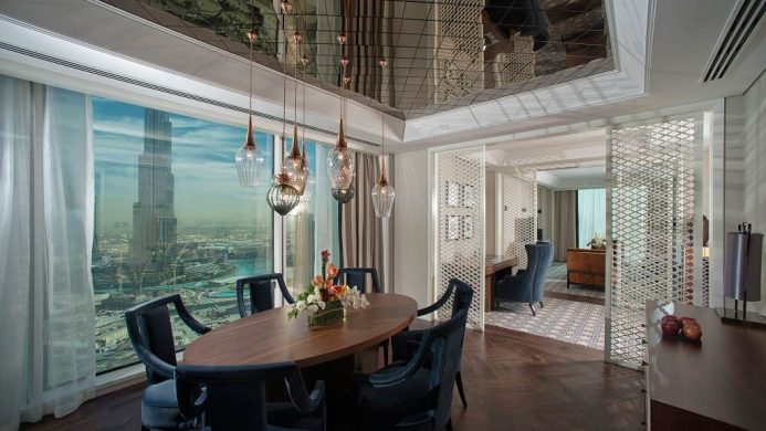 Taj Dubai Suite Dining Room