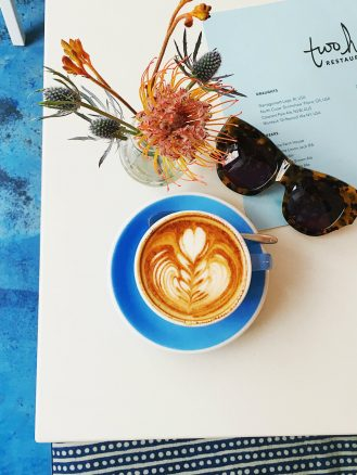 Two Hands New York coffee and sunglasses