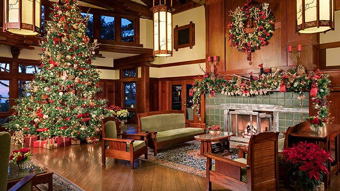 The Lodge at Torrey Pines Christmas Tree in Lobby