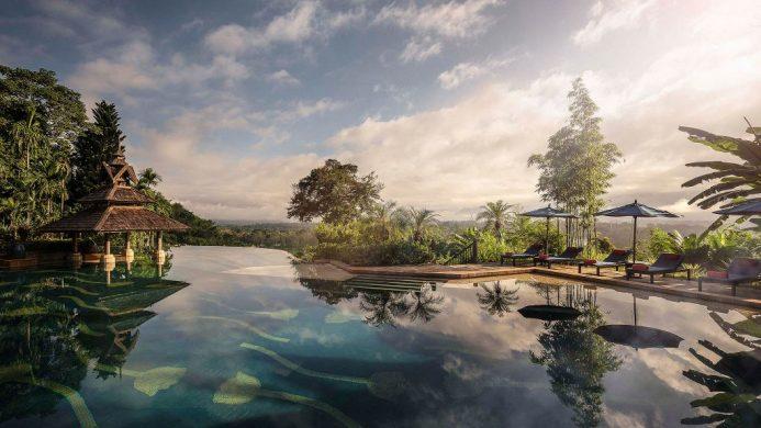 Anantara Golden Triangle Elephant Camp & Resort Peaceful Pool at Dawn