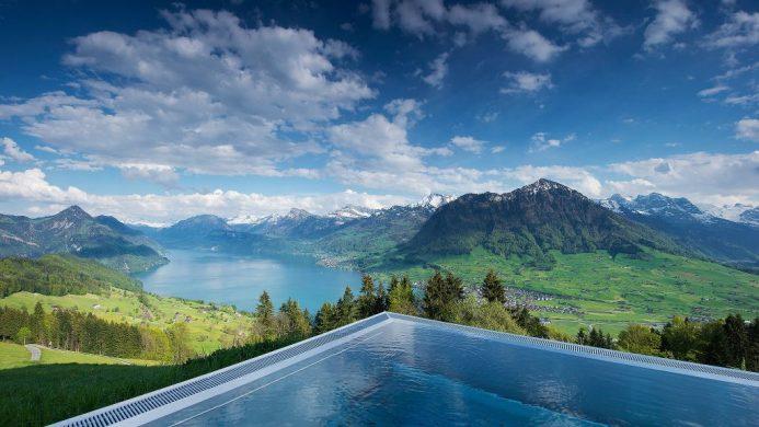 Hotel Villa Honegg Pool Mountain Retreat Valley View
