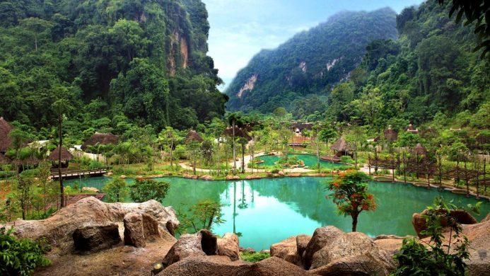 The Banjaran Freeform Pool Valley Mountain View