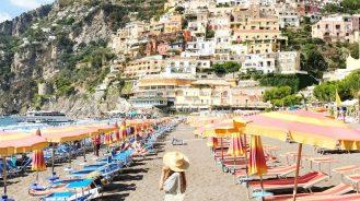 Positano beach Amalfi Coast