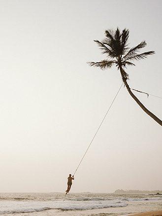 Cape Weligama Beach Rope Swing