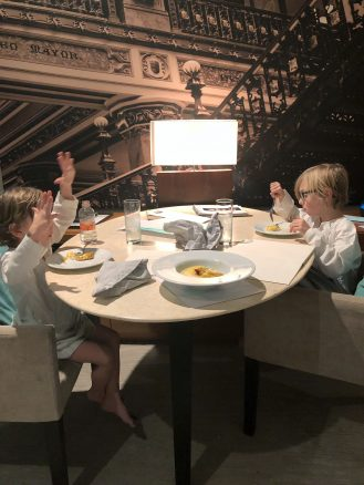 Kids enjoying a meal