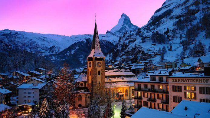 Grand Hotel Zermatterhof town