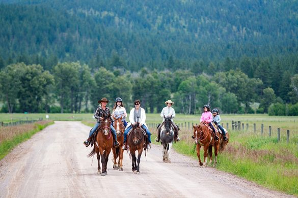 The Resort at Paws Up multi-generational travel family horseback riding