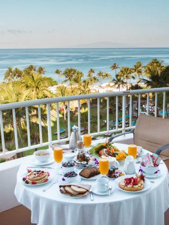 Breakfast with an ocean view at Fairmont Kea Lani, Maui