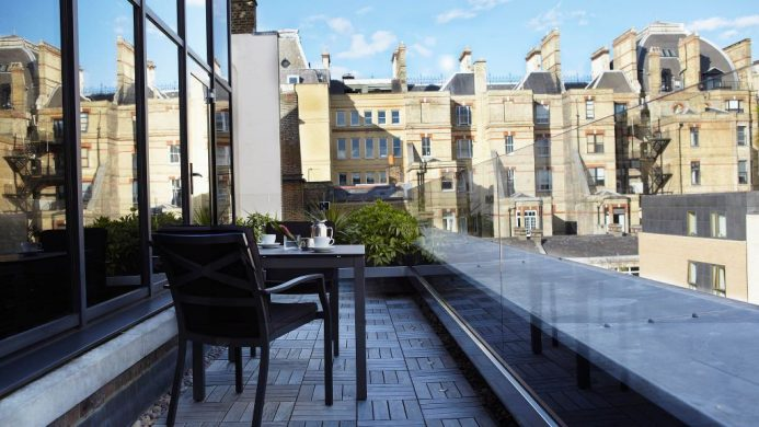 COMO The Halkin London balcony