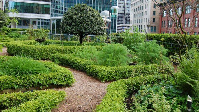 Fairmont Waterfront Vancouver rooftop garden