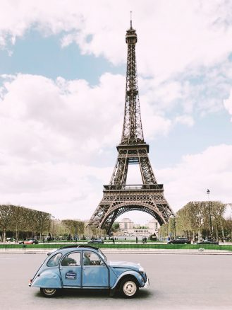 Eiffel Tower car in Paris