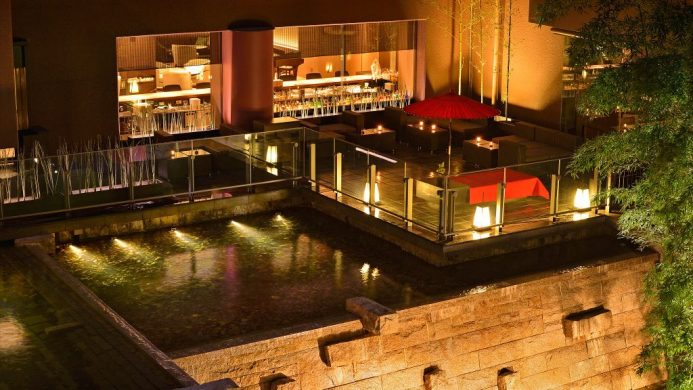Kyoto Tokyu Hotel Garden Terrace and Bar at Night