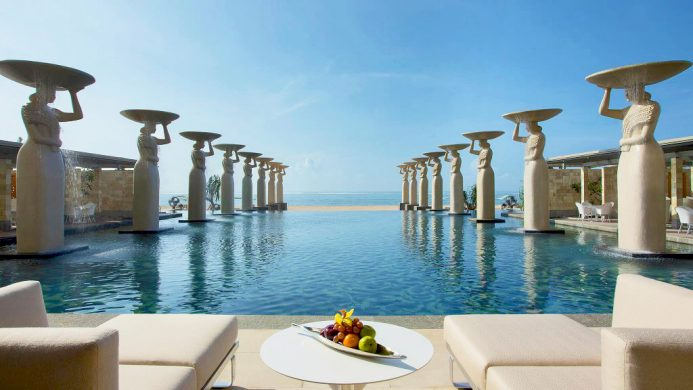 The Mulia - Nusa Dua Oasis Pool overlooking beach and sea