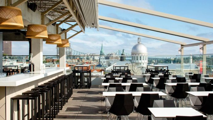 Hotel William Gray Rooftop Terrace Montreal Quebec