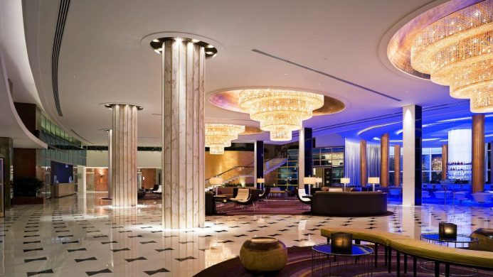 Fontainebleau Miami Beach hotel lobby