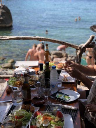 Lunch at Deia Beach