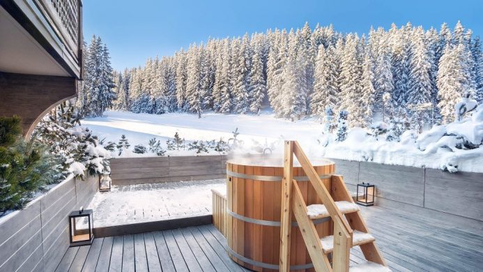 coolest ski hotels Courchevel