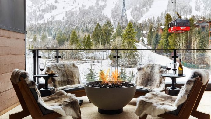 coolest ski hotels Jackson Hole