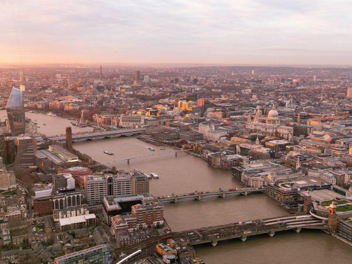 The Shard London sunset