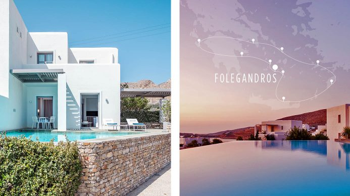 Whitewashed house with private plunge pool