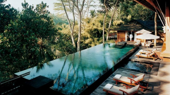 The Tirta Ening pool at COMO Shambhala Estate