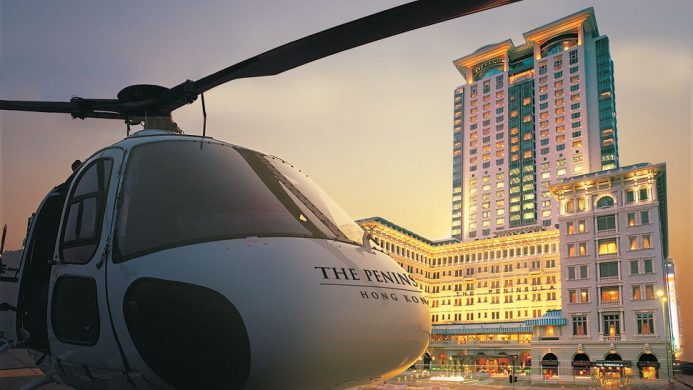 Private Helicopter to The Peninsula Hong Kong