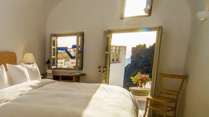 Iconic Santorini bedroom