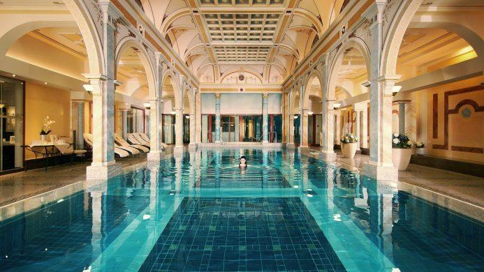 Large indoor thermal pool at Grand Resort Bad Ragaz