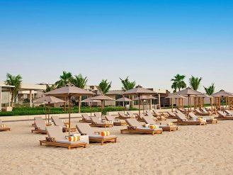 The Oberoi, Al Zorah loungers on the beach