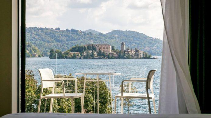 Casa Fantini lake and island view