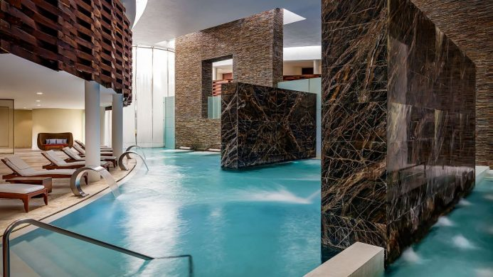 Grand Velas Riviera Maya indoor spa pool