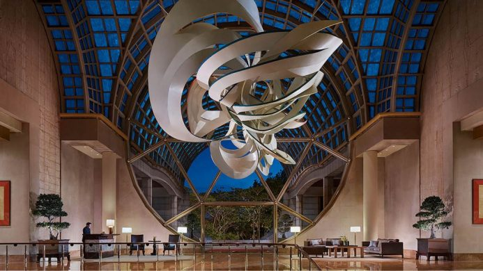 Lobby sculpture at The Ritz-Carlton Millenia