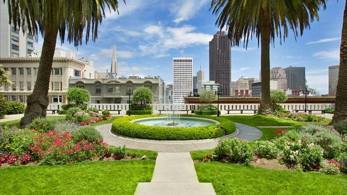 Fairmont San Francisco's landscaped rooftop garden
