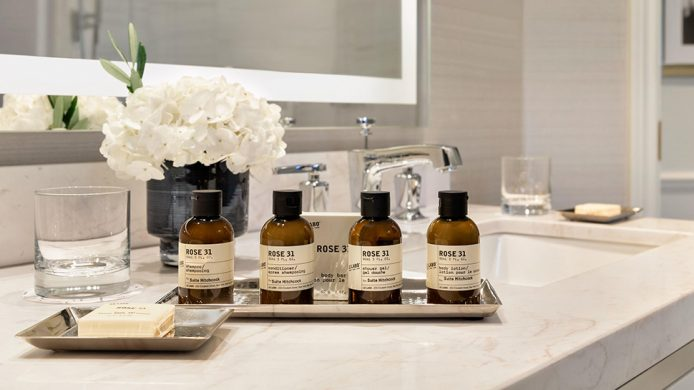 Fairmont hotel's Le Labo Rose 31 bath and body set