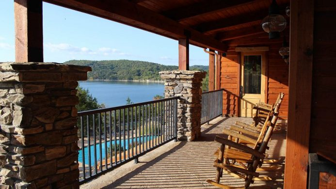 Stonewater Cove Resort and Spa's balcony overlooking Table Rock Lake
